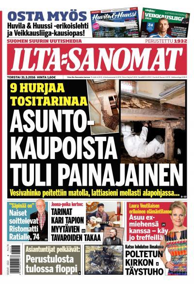 Ilta Sanomat 31.03.2016 Lehtiluukku.fi