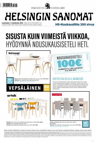 Helsingin Sanomat 07.05.2016 Lehtiluukku.fi