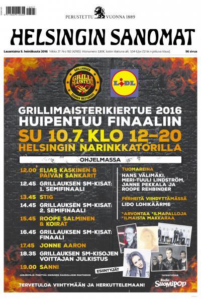 Helsingin Sanomat 09.07.2016 Lehtiluukku.fi