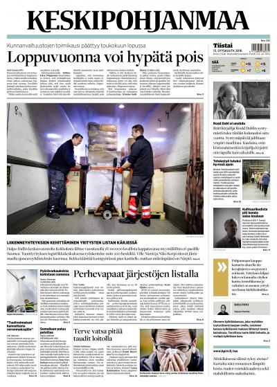 KESKIPOHJANMAA 13.09.2016 Lehtiluukku.fi