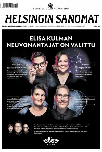 Helsingin Sanomat 13.10.2016 Lehtiluukku.fi
