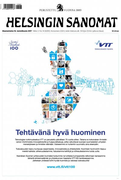 Helsingin Sanomat 16.1.2017 Lehtiluukku.fi