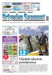 Oriveden Sanomat 13.9.2017
