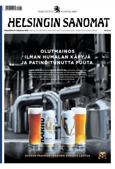 Helsingin Sanomat 19.10.2018 Lehtiluukku.fi