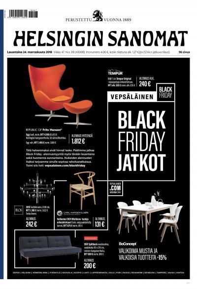 Helsingin Sanomat 24.11.2018 Lehtiluukku.fi