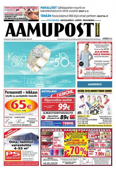 Aamuposti (Hyvinkää) 14.7.2019 Lehtiluukku.fi