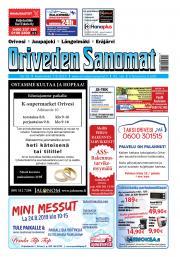 Oriveden Sanomat 7.8.2019