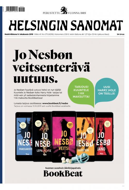 Helsingin Sanomat 9.10.2019 Lehtiluukku.fi
