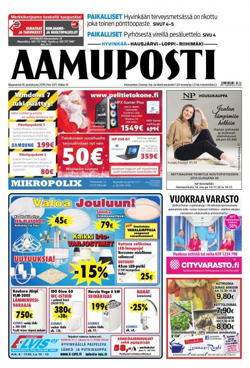 Aamuposti (Hyvinkää) 16.12.2019 Lehtiluukku.fi