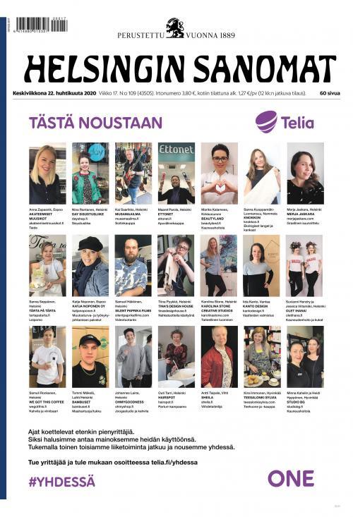 Helsingin Sanomat 18.4.2020 Lehtiluukku.fi