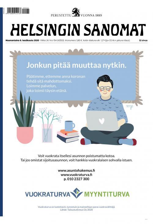 Helsingin Sanomat 8.6.2020 Lehtiluukku.fi