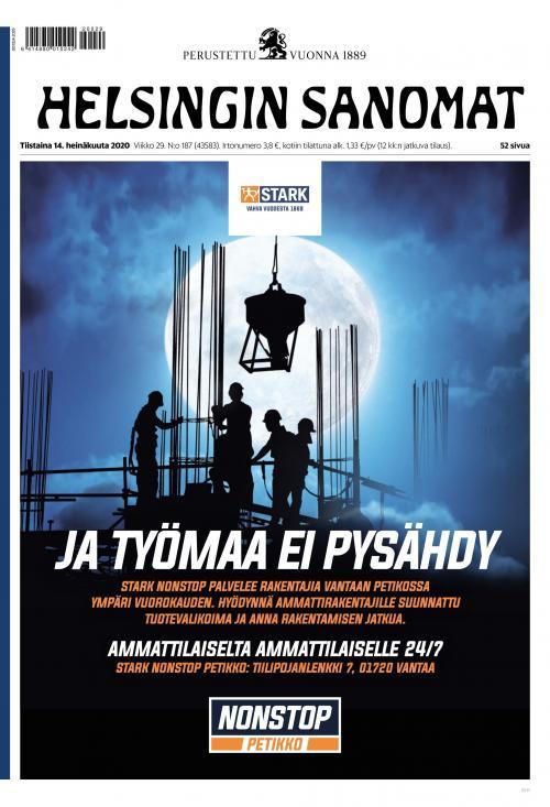 Helsingin Sanomat 14.7.2020 Lehtiluukku.fi