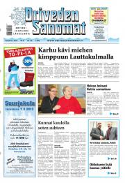 Oriveden Sanomat 31.01.2013