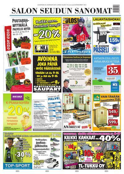 Salon Seudun Sanomat 23.04.2011 Lehtiluukku.fi