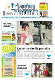 Oriveden Sanomat 27.06.2013
