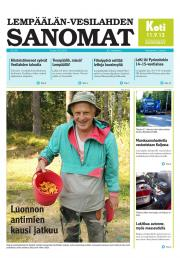 Lempäälän-Vesilahden Sanomat 29.08.2013