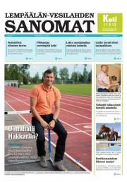 Lempäälän-Vesilahden Sanomat 02.09.2013