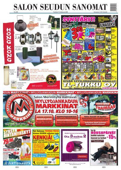 Salon Seudun Sanomat 15 10 2009 Lehtiluukku Fi