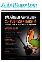 Sydän-Hämeen Lehti 24.08.2010