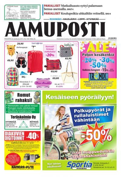 Aamuposti (Riihimäki) 04.06.2015 Lehtiluukku.fi