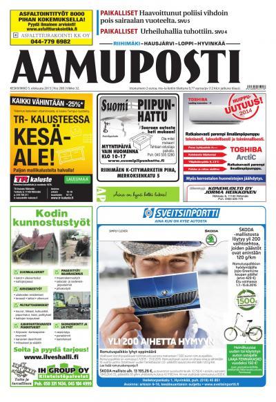 Aamuposti (Riihimäki) 05.08.2015 Lehtiluukku.fi