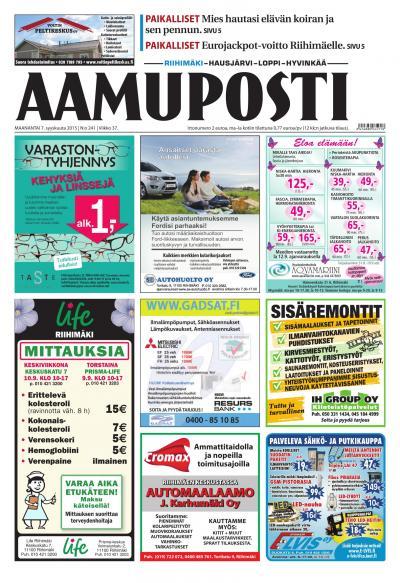 Aamuposti (Riihimäki) 07.09.2015 Lehtiluukku.fi