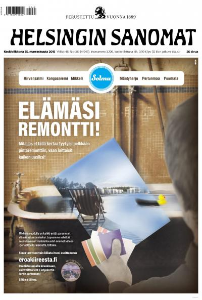 Helsingin Sanomat 25.11.2015 Lehtiluukku.fi