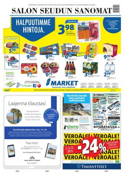 Salon Seudun Sanomat 30.01.2015 Lehtiluukku.fi